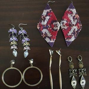 Lot of Jewelmint dangle earrings, 5 pair